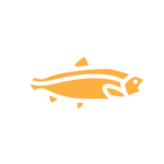 Yellow illustration of a fish
