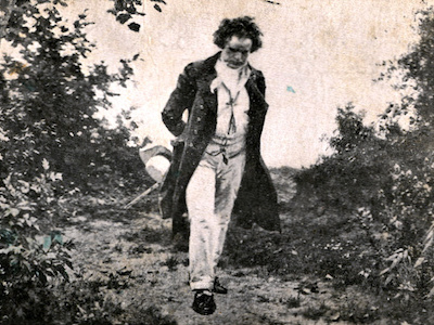 Beethoven walking in nature