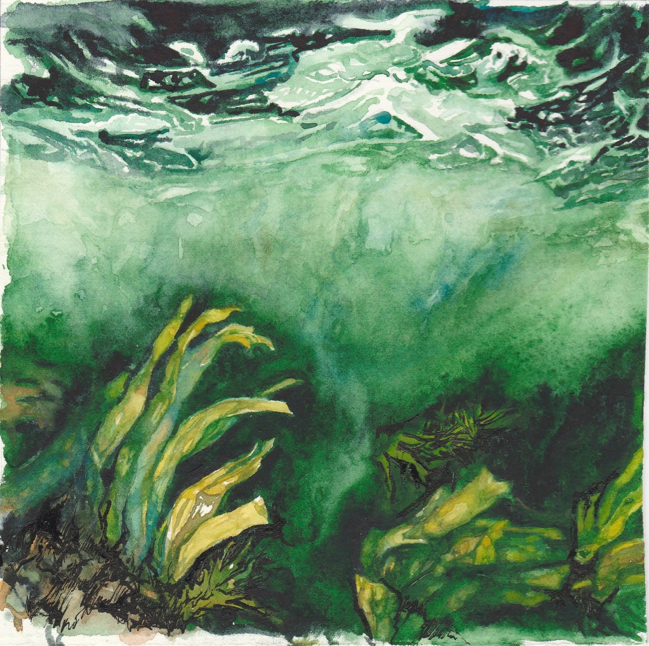 Painting of the ocean floor by Leanne Cadden
