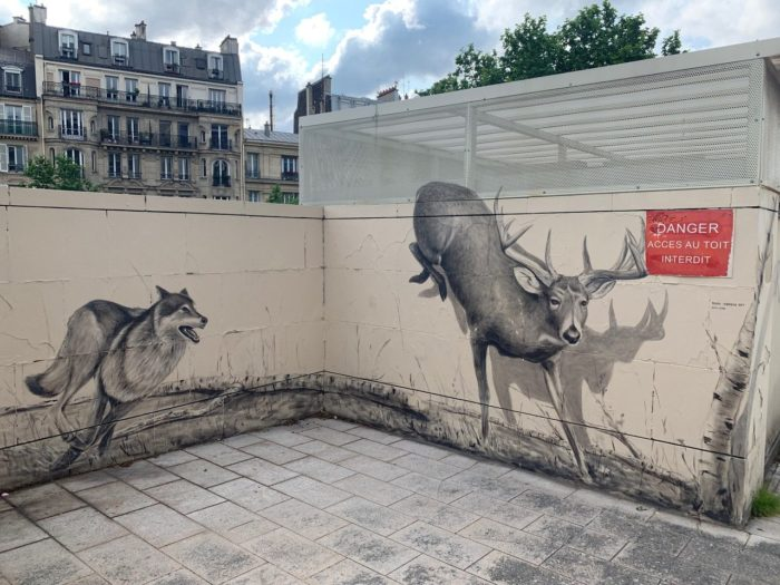 Paris animal mural by Ruben Carrasco