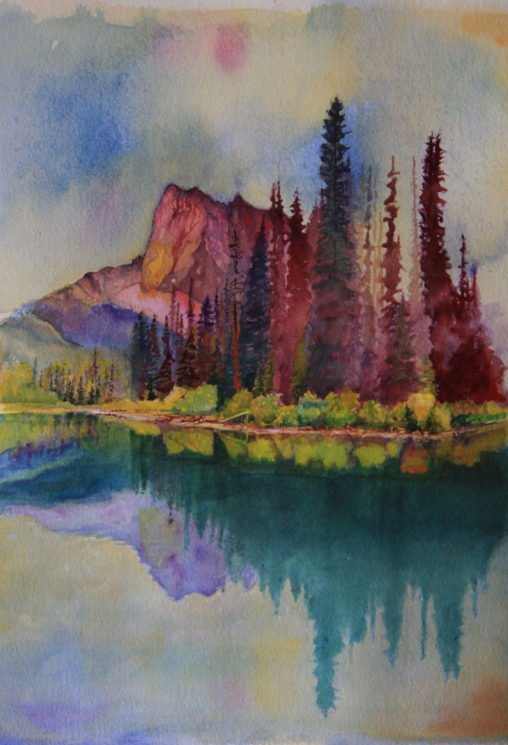 Mt. Burgess and Emerald Lake