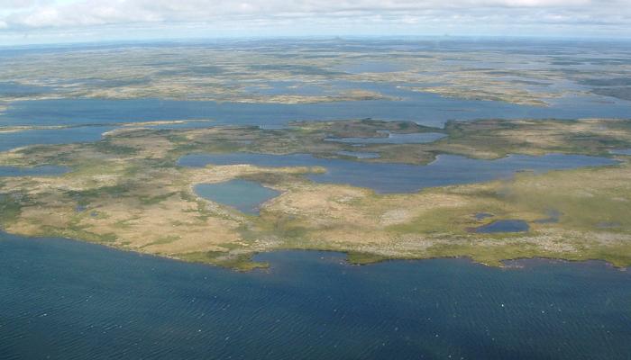 Lakes in Nunavik northern Quebec